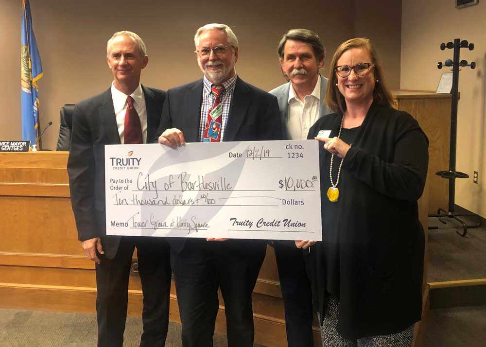 Truity Credit Union donates $10,000 for the Tower Center at Unity Square