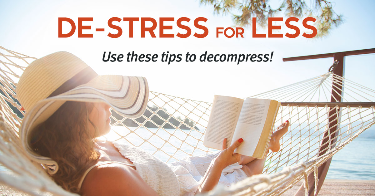 Seven Ways to De-stress for Less