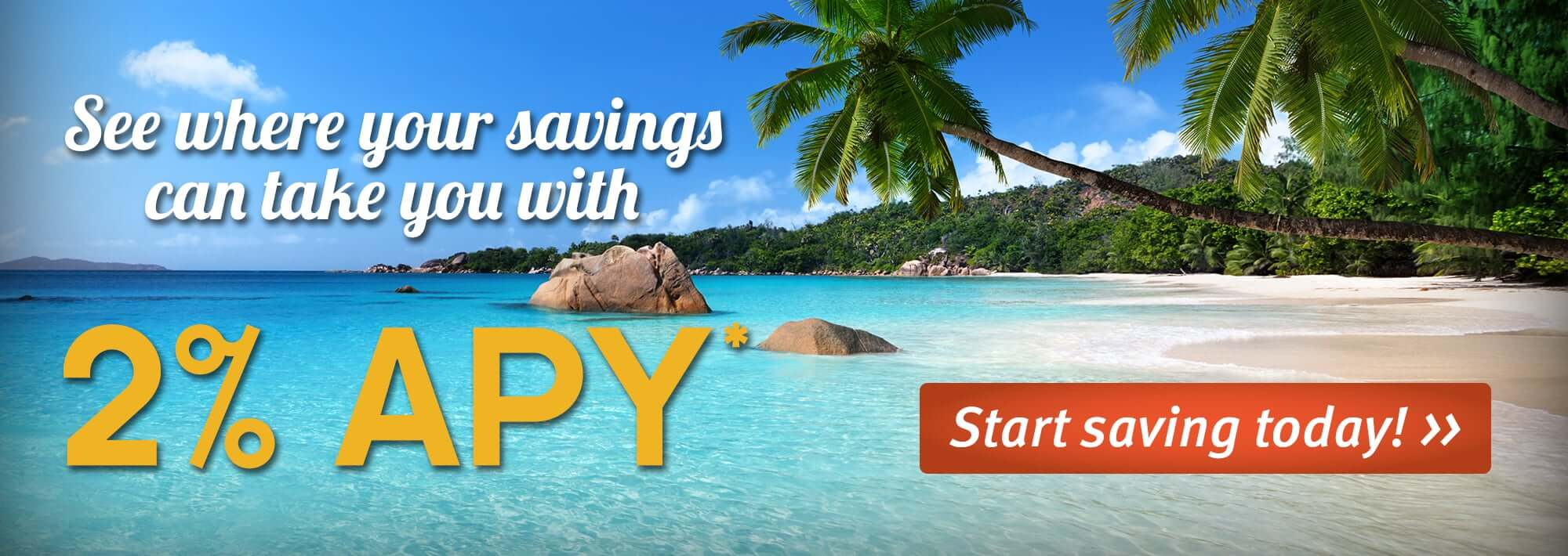 See Where Your Savings Can Take You with 2% APY*