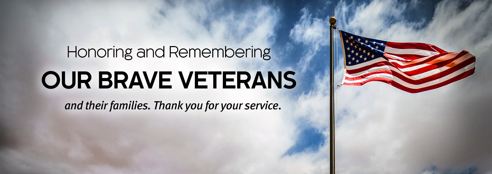 Honoring and Remembering our brave veterans and their families. Thank you for your service.