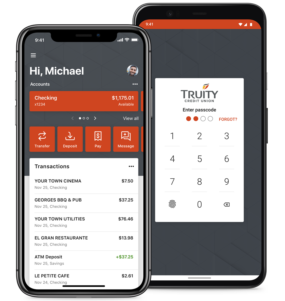 Truity's App is available from the Apple and Google app stores