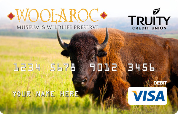 The Woolaroc Debit Card benefits Woolaroc Museum and Wildlife Preserve.